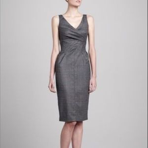 Michael Kors Collection Dark Gray Wool Dress